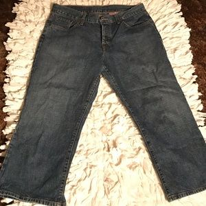 Lucky Brand Dungarees Classic Fit Crop Jeans